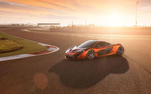 The McLaren P1 stopped in Bahrain for a photo shoot.