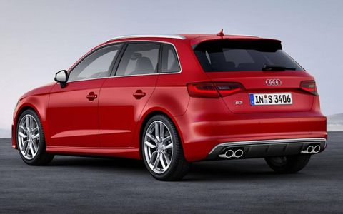 The Audi S3 Sportback runs with all-wheel drive and a six-speed manual transmission.