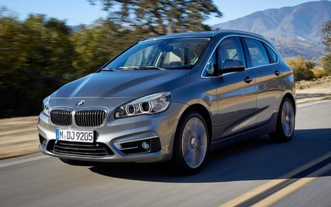 The new crossover style vehicle will also be the first BMW model to be sold  with three-cylinder power in the form of compact new turbocharged 1.5-liter gasoline engine.