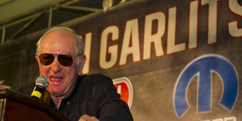 Drag-racing legend Don Garlits celebrated his 80th birthday with his closest friends in racing at Pomona, Calif.