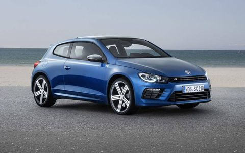 The VW Scirocco R has a 276 hp version of Volkswagen's EA888 turbocharged 2.0-liter.