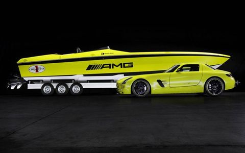 The Mercedes Cigarette AMG Electric Drive Concept has a top speed of 99 mph.