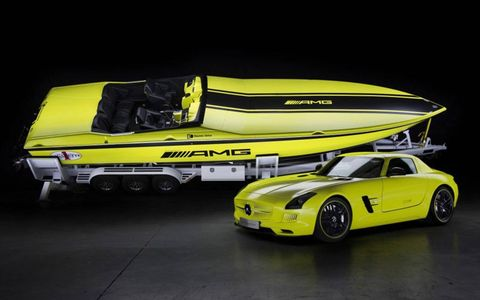 The Mercedes Cigarette AMG Electric Drive Concept uses 12 electric motors.