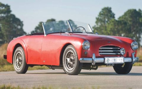 Lot 130, a 1953 Allard K3 roadster featuring a 331-cubic-inch OHV Cadillac V8 (est. $90,000 to $110,000).