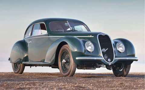 Lot 144, a 1939 Alfa Romeo 6C 2500 Sport Berlinetta by Touring (est. $1,500,000 to $1,750,000).