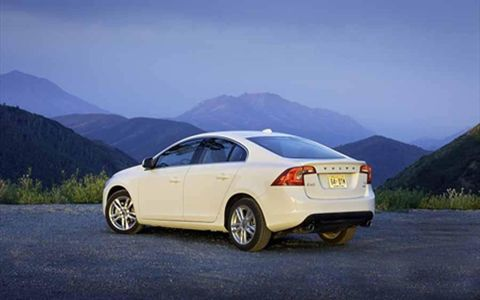 The 2013 Volvo S60 T5 AWD has a simple exterior design.