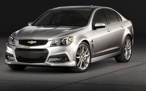 The 2014 Chevrolet SS rear-drive sedan goes on sale later this year.