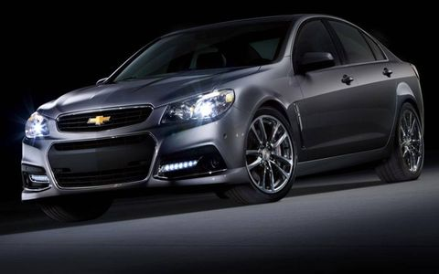 The 2014 Chevrolet SS is powered by the 6.2-liter V8 shared with the Chevrolet Corvette.