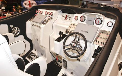 With more than 100 innovations on display, the all new 46' Rider serves as a technology showcase for Cigarette