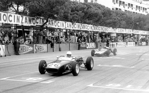Surtees at the 1960 Monaco Grand Prix.