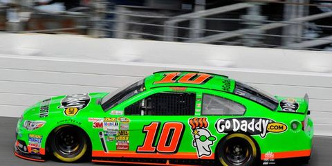 Danica Patrick is the first woman to win the pole for the Daytona 500.