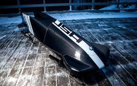 Team USA's high-tech bobsled, designed by BMW Designworks USA.