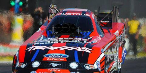 Courtney Force won the NHRA Mello Yello Funny Car opener at Pomona on Sunday.