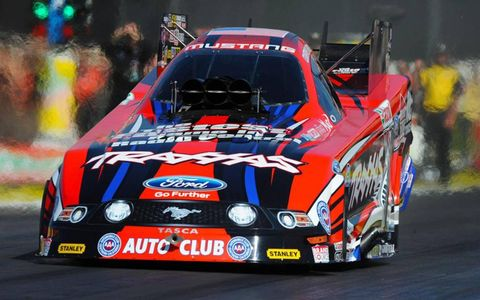 Courtney Force won the NHRA Mello Yello Funny Car opener at Pomona on Sunday.
