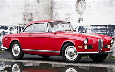 A rarely seen coupe, the elegant 503 from 1957.