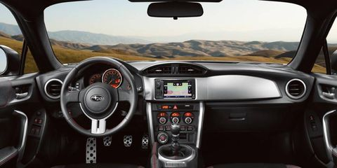 The 2013 Subaru BRZ Limited has interior accommodations that wont be mistaken for luxury.
