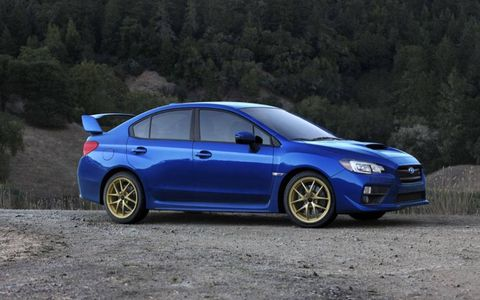 Sharpening things more is a quicker 13.0:1 steering ratio for the hydraulic power steering system versus the 15.0:1 ratio in the old car and the new WRX's 14.5:1 ratio.