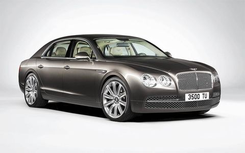 The Bentley Flying Spur gets its own unique styling.