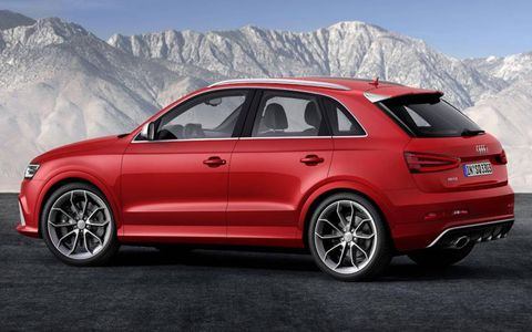 Audi says the RS Q3 will sprint from 0 to 62 mph in 5.5 seconds.