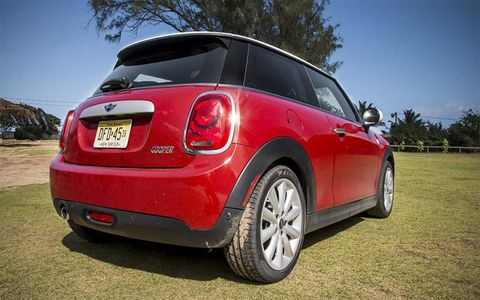 This is the third generation Mini Cooper, new for 2014.