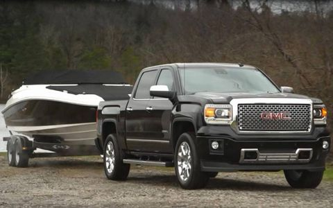 The 2014 GMC Sierra Denali's power tops out at 420-hp and 460 lb-ft of torque.