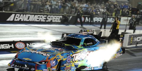 Force powered her Traxxas Chevy Camaro to a track record time of 3.917 seconds at 318.39 mph on Friday night.