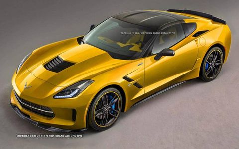 New renderings show what the C7 Corvette-based ZR1, which could appear as a 2015 or 2016 vehicle, might look like.