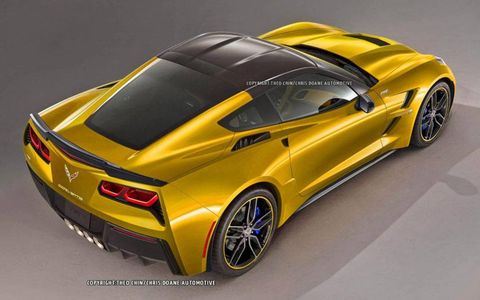 The supercharged C7 Corvette-based ZR1 will boost the 450 hp of the base model's LT1 V8 substantially -- perhaps to over 700 hp.