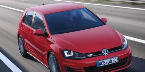 The Volkswagen Golf GTD uses the automaker's new four-cylinder diesel engine.