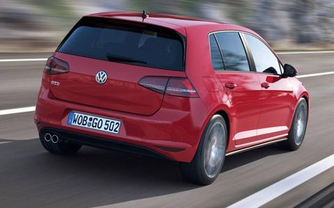 Volkswagen says the Golf GTD has a top speed of 143 mph.