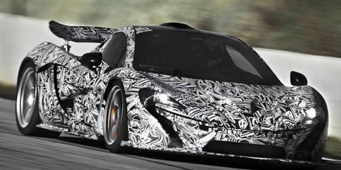 The McLaren P1's hybrid powertrain will crank out a combined 903 hp.