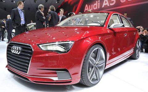 The Audi A3 sedan concept