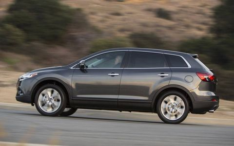 The 2014 Mazda CX-9 Grand Touring is all-wheel drive mated to a six-speed automatic transmission.