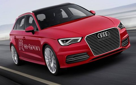 The Audi A3 etron debuts at the Geneva motor show.