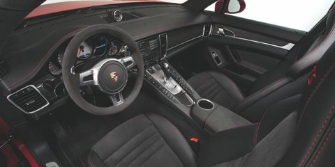 As tested, the 2013 Porsche Panamera GTS put the power to the road with a seven-speed dual-clutch manual gearbox.