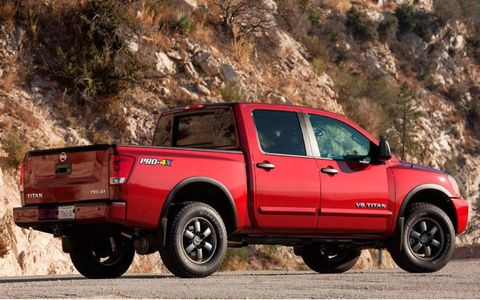 The Titan is four-wheel drive mated to a five-speed automatic transmission.