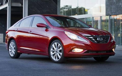 This Sonata has hints of the Mercedes CLS, a car $75,000 more expensive