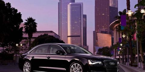 The 2013 Audi A8 L 3.0 TFSI is equipped with a 3.0-liter supercharged V6.