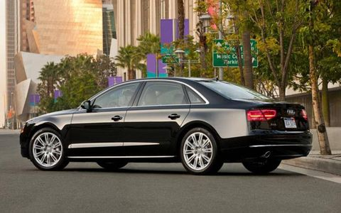 The 2013 Audi A8 L 3.0 TFSI uses an all-wheel-drive configuration allowing for maximum traction.
