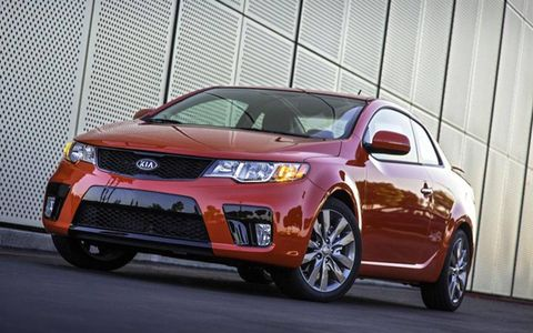 The 2013 Kia Forte Koup SX would not be our first choice when looking to purchase a small coupe.
