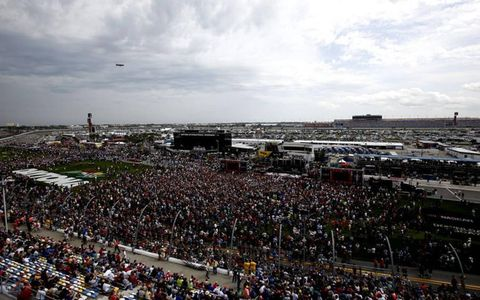 A look at Daytona International Speedway before the race.