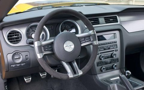 2012 Ford Mustang Boss 302 instrument panel.