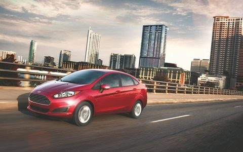 The 2014 Ford Fiesta SE sedan starts at a base price of $16,245.