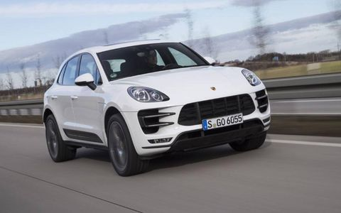 This is Porsche's compact SUV, unveiled at the LA Auto Show in November, 2013.