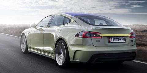 The XchangE concept is obviously based on a Tesla Model S, but it's what's inside that counts.
