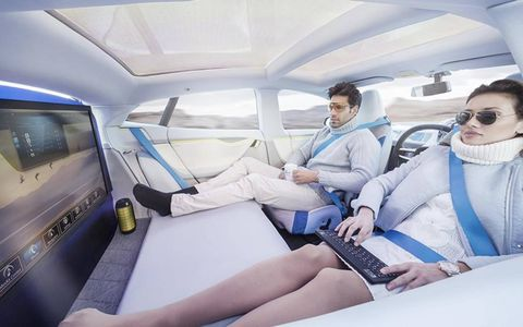 The freedom of not having to drive will revolutionize car interiors, Rinspeed predicts.