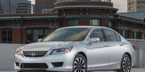 The CVT transmission in the 2014 Honda Accord Hybrid Touring  works seamlessly with minimal lag.