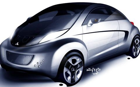 "In what may be the most complex model name of all time, Mitsubishi releases an illustration of their new concept.Details are thin at the moment, but the styling has obviously been tweaked, there's a ""clear cutaway"" roof, and power comes from a stronger electric motor. The focus with the i MiEV SPORT AIR, as with the preceding i MiEV Sport, is on a more dynamic driving experience.The official press release talks of a low center of gravity and ""instant torque"" almost as much as it does zero emissions motoring. One wonders whether Mitsubishi has a production version in the pipeline, ready to follow the regular i MiEV."
