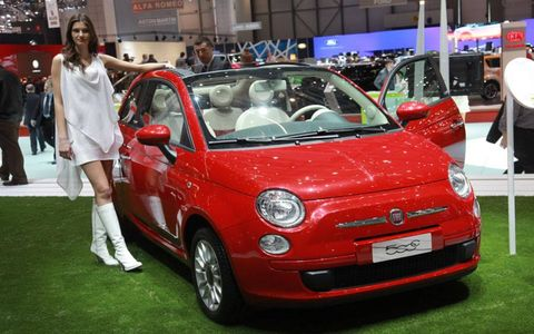 Unlike it's closest competitor-–the Mini Cooper Convertible--the Fiat 500C retains its roofline and arching C-pillar, which should keep its structural rigidity intact while keeping blind spots at bay.The power-operated cloth-top will reported come in three colors-– ivory, red and black-–and a new spoiler, incorporated into the retractable roof, keeps the third brake light visible whether to the top is up or down.