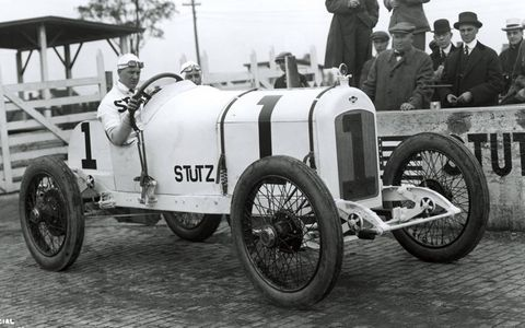 Howdy Wilcox put his No. 1 Stutz race car on the pole for the 1915 Indy 500, but only led five laps and finished in seventh place